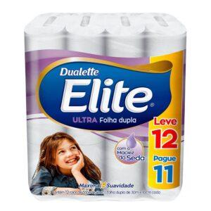 Papel Higiênico Elite Folha Dupla Leve 12 Pague 11