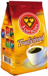 Café 3 Corações Extra Forte Tradicional - 500g