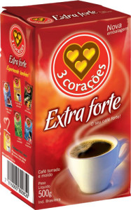 Café 3 Corações Extra Forte a Vácuo - 500g