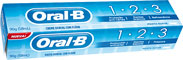 Creme Dental Oral B 1.2.3 - 90g