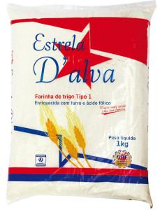 Farina de Trigo Estrela D'Alva Tipo 1 - 1kg