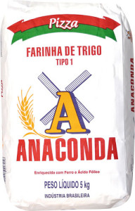 Farinha de Trigo Anaconda Pizza Tipo - 1,5kg
