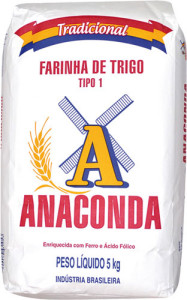 Farinha de Trigo Anaconda Tradicional Tipo 1 - 5kg