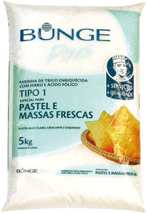 Farinha de Trigo Bunge para Pastel e Massas Frescas - 5kg