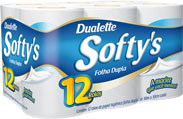 Papel Higiênico Dualette Softy's Folha Dupla - 12 unidades