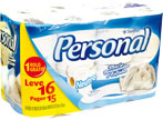 Papel Higiênico Personal Folha Simples Leve 16 Pague 15