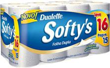 Papel Higiênico Softys Folha Supla Leve 16 Pague 15