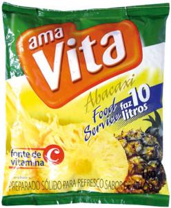 Refresco em Pó Ama Vita Abacaxi - 1 kg