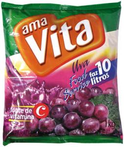 Refresco em Pó Ama Vita Uva  - 1 kg