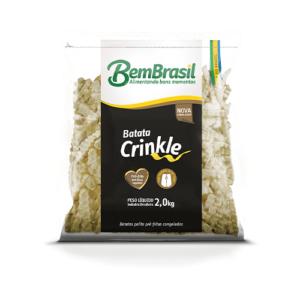 Batata Bem Brasil Crinkle pacote 2Kg