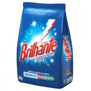 Detergente em Pó Brilhante Sachê 1Kg
